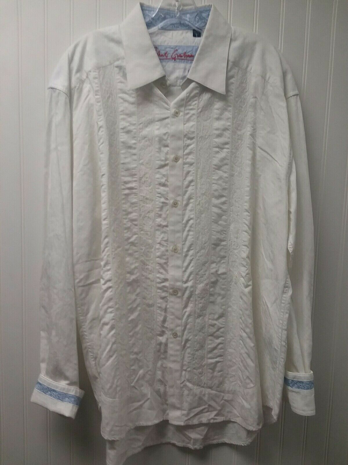 Designer Robert Graham Long Sleeve Dress Shirt