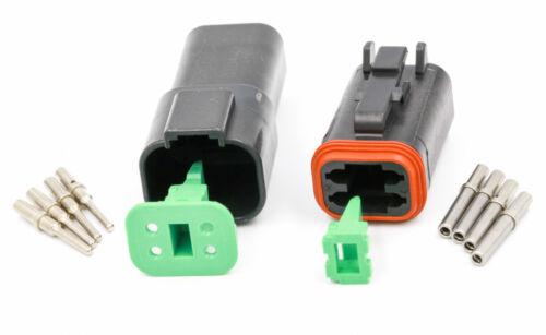 Deutsch DT 4 Way Automotive Connecteur Kit-DT04 et DT06-Noir