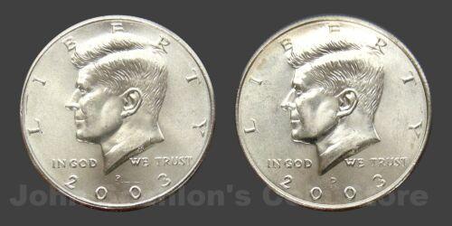 2003 P+D Kennedy Half Dollars 2-Coin Set Choice BU