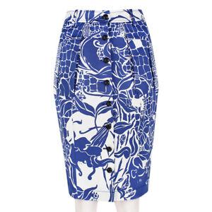 Emilio-Pucci-White-Royal-Blue-Botanical-Pattern-Buttoned-Pencil-Skirt-IT38-UK6