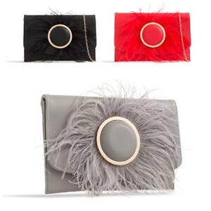 colores delicados venta en línea venta usa online Detalles de Mujer Plumas Satén Estilo Envolvente Bolso de Mano Noche Fiesta  Boda Kw2389
