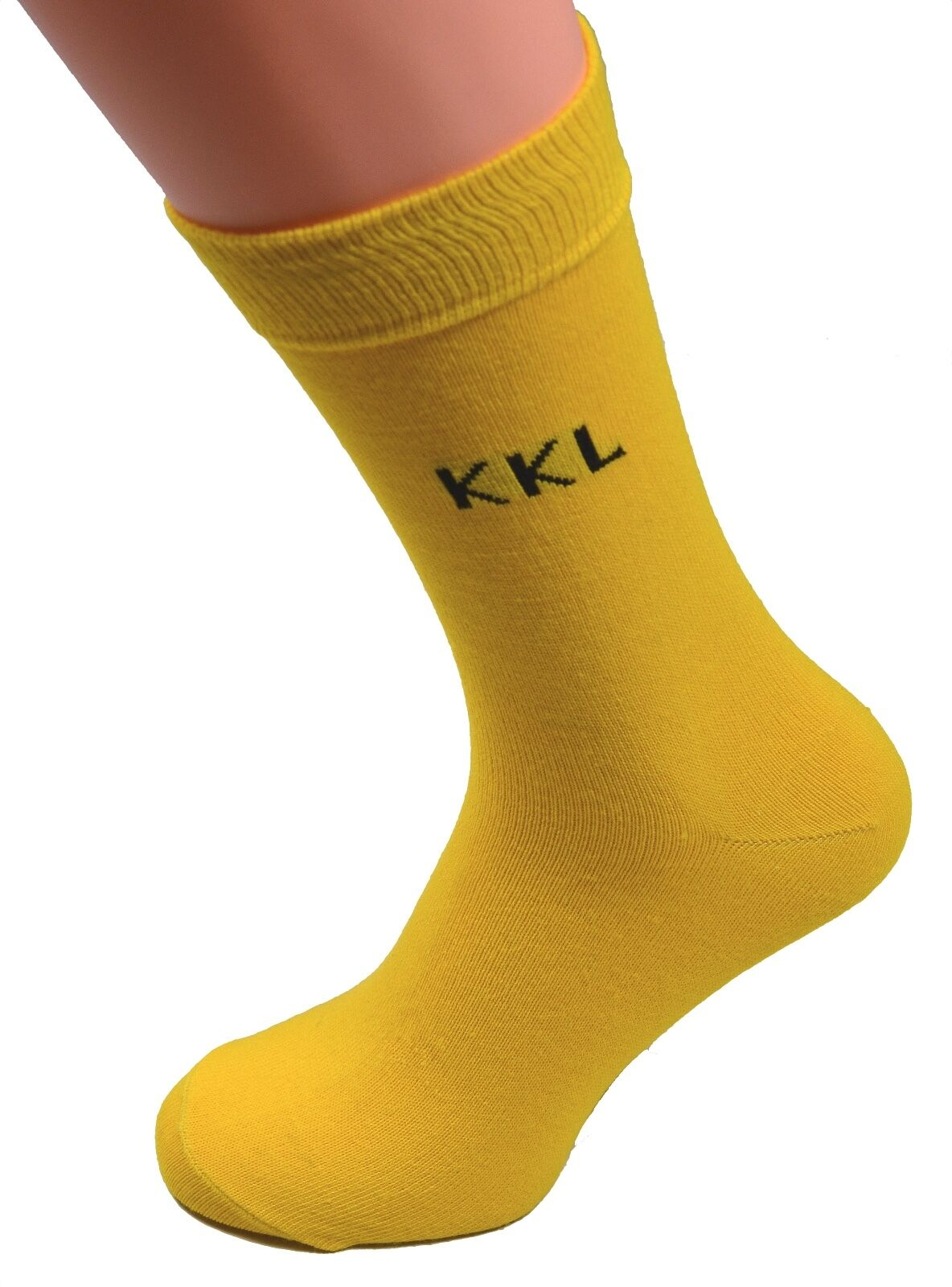Negocios Calcetines de trabajo Traje con sin einwebung KKL yellow size 43 46