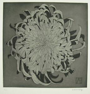 Andre-Barancy-c1970-Print-Original-Signed-EA-EP-039-Artist-Art-Modern-Flower