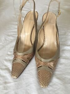 Hobbs-Ladies-Champagne-Leather-Slingback-Sandals-Size-5-H02