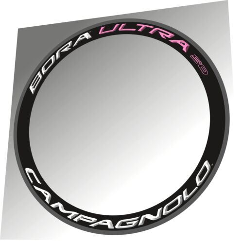 CAMPAGNOLO BORA ULTRA 50 2015 WHITE /& LIGHT PINK  3D RIM DECAL SET FOR 2 RIMS