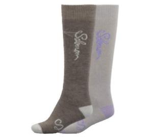 Brand New Salomon Charm 2 Pack Ski Snowboarding Socks M Brown//Pear S