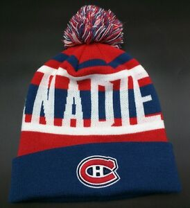 a225b62cb Details about MONTREAL CANADIENS ICE HOCKEY red / white / blue beanie