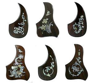 acoustic guitar pickguard rosewood mop inlay right side 1pcs pgtlr pgmtr ebay. Black Bedroom Furniture Sets. Home Design Ideas