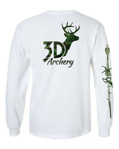 4880173dd563 3D Archery bow hunting long sleeve t shirt camo compound bow recurve ...