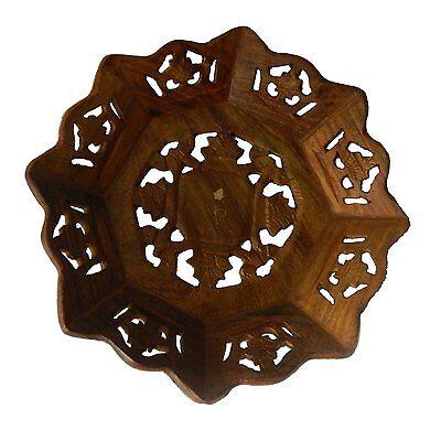 Schale 20cm Holz Obst Teller Servierschale Brotkorb Wohnen Tisch Kochen
