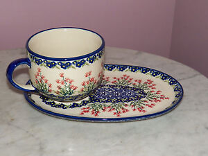 Polish-Pottery-UNIKAT-Lunch-Set-Marysia-Pattern