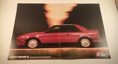 "Details about  /1989 Dodge Shadow ES Original Print Ad 8.5 x 11/"""