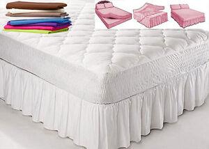 Image Is Loading Double Bed BASE PLATFORM VALANCE SHEETS Plain 24