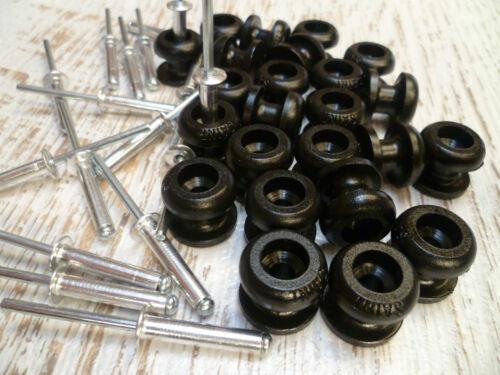 30 Pk Black Rope Bunji Buttons Ute Knobs Boat Tarp Bungee Free Post
