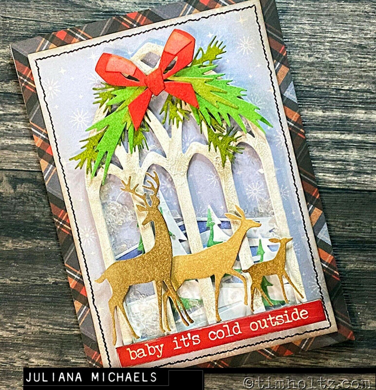 2020 Tim Holtz Sizzix Darling Deer Thinlits Die Set 4Pc Chapter 4 664968