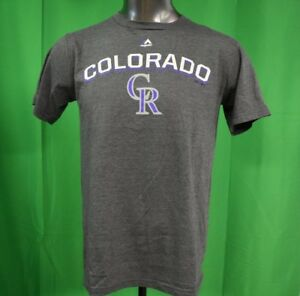 buy popular 7d928 0f781 Details about Majestic MLB Mens Colorado Rockies Baseball Shirt NWT S, M