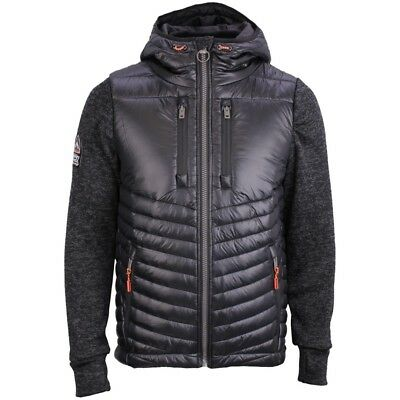 SUPERDRY SLIM FIT SHERPA WINDCHEATER BLACK JACKET LARGE SLIM