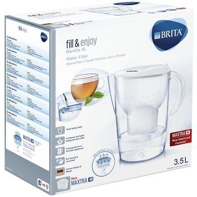 BRITA Marella XL MAXTRA+ Plus 3.5L Water Filter Table Jug + 1 Cartridge - White