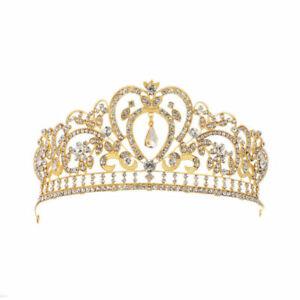 Rhinestone-Crystal-Queen-Crown-Wedding-Princess-Headband-Crowns-Tiaras-2-Colors