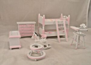 Stupendous Details About Bedroom Bed Set Girls Child Dollhouse Furniture 6Pc T0141 1 12 Scale Wooden Download Free Architecture Designs Scobabritishbridgeorg