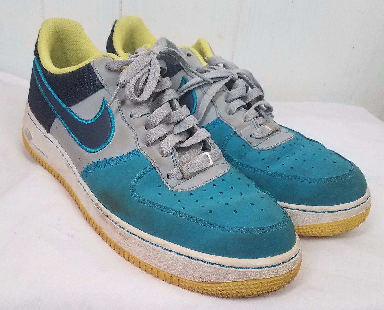 Nike Air Force de 1 lobo gris mediados de Force marina tropical Teal comodo gran descuento 008f75