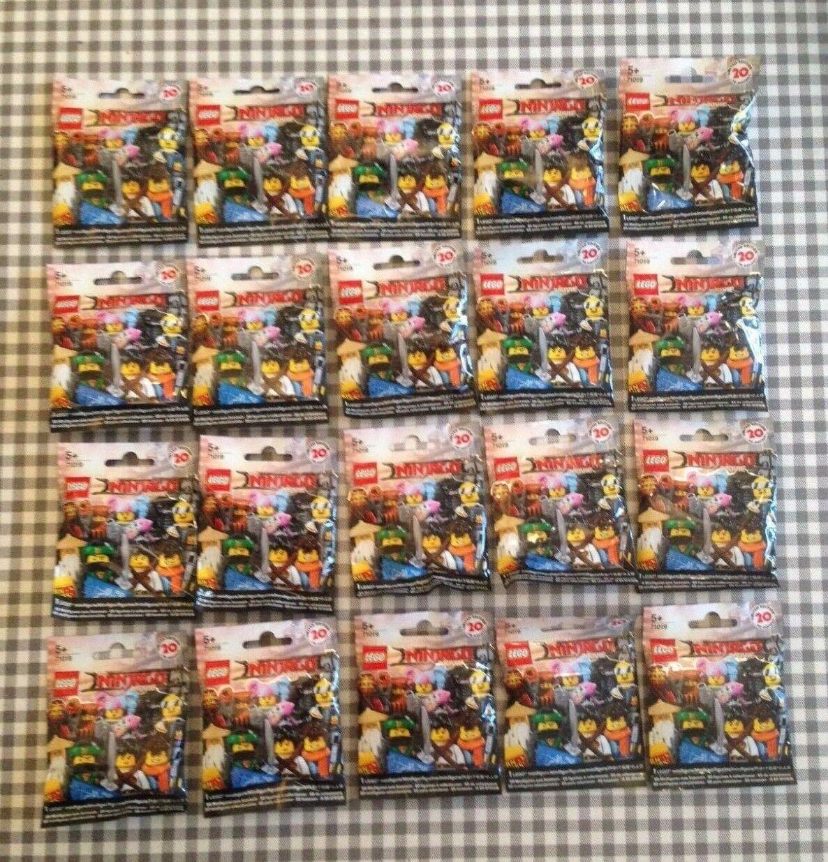 Lego ninjago movie series minifigures (71019) complete set 20 unopened sealed