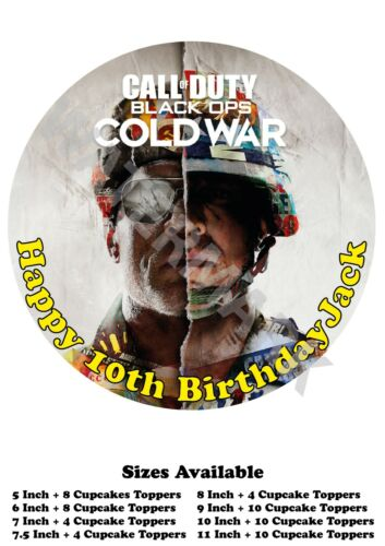 Call of Duty Personalised Edible Wafer Icing Cake Topper Costco Any Size upto A3