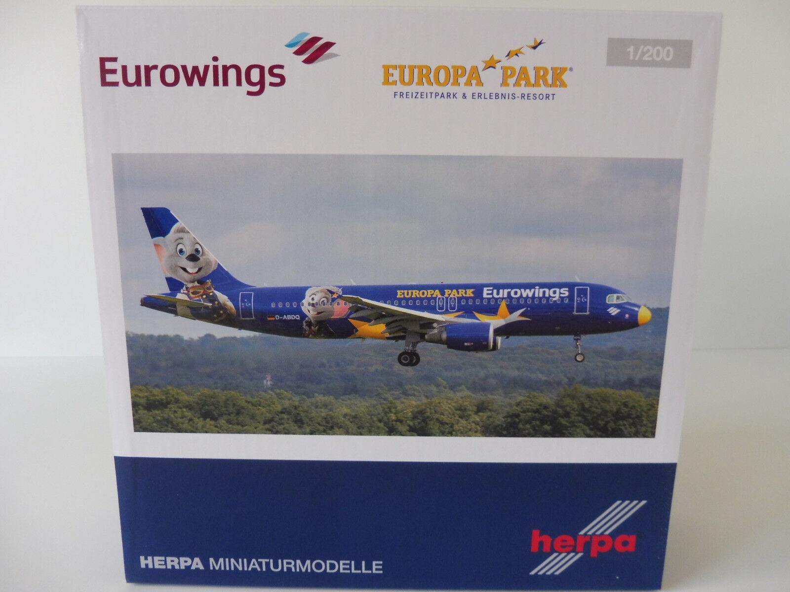 Eurowings Europa Park Rust airbus a320 1 200 Herpa 558808 558808 558808 a 320 D-abdq ed Edda a87854