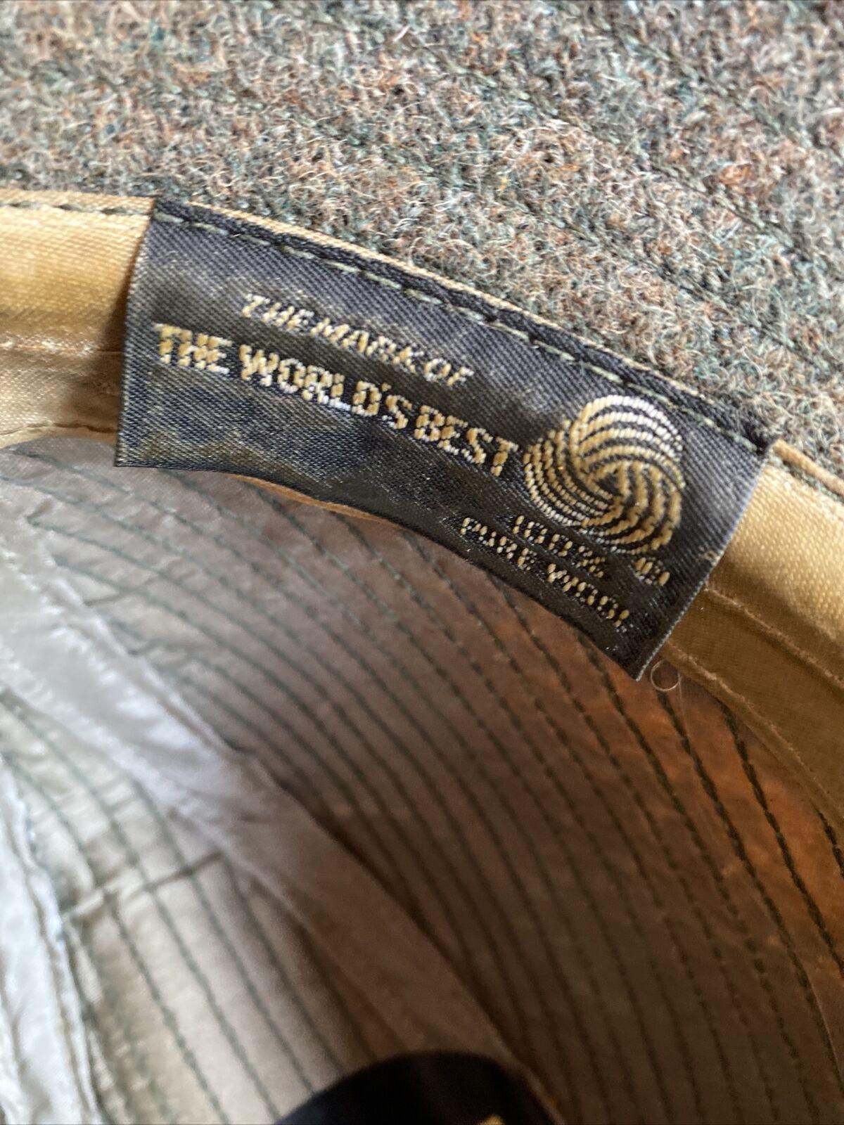 World's Best 100% Wool Vintage 1950's Green Fedor… - image 6