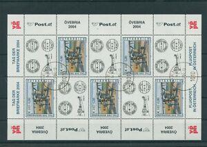 Autriche-Autriche-Vintage-2004-Mi-2482-Timbres-Used-Feuilles-Miniature-Klbg