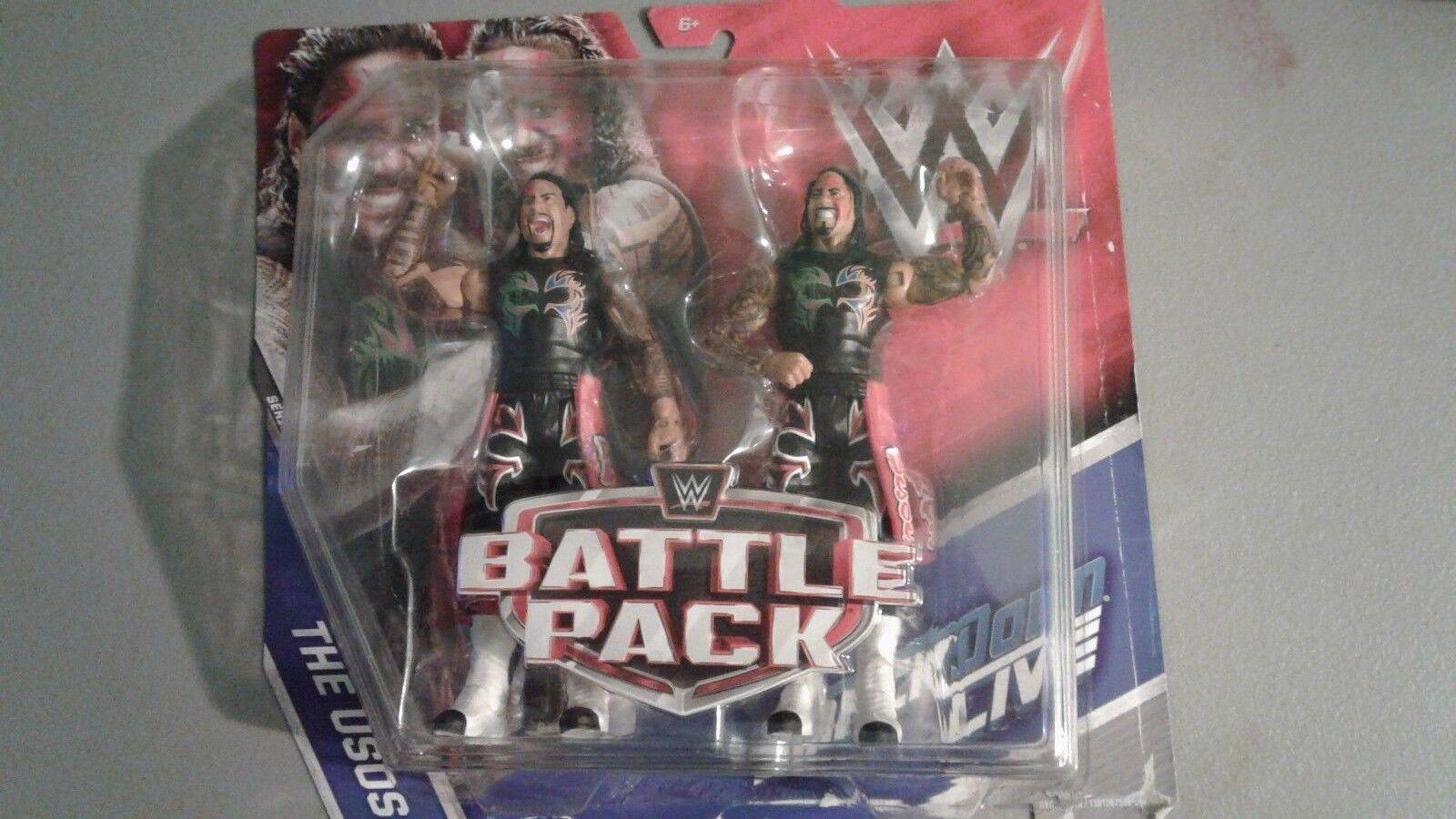 WWE Mattel serie 44 Battle Packs The Usos Action figure Toy Skadad Paket