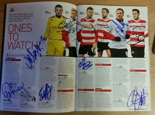 MultiSigned 11 Doncaster Rovers Away Programme, 8th February 2014