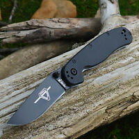 Ontario Rat Model 2 Black Aus8 Steel Black Frn Handle Folding Knife 8861