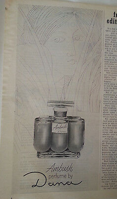 1965 Dana PRINT AD Ambush Perfume