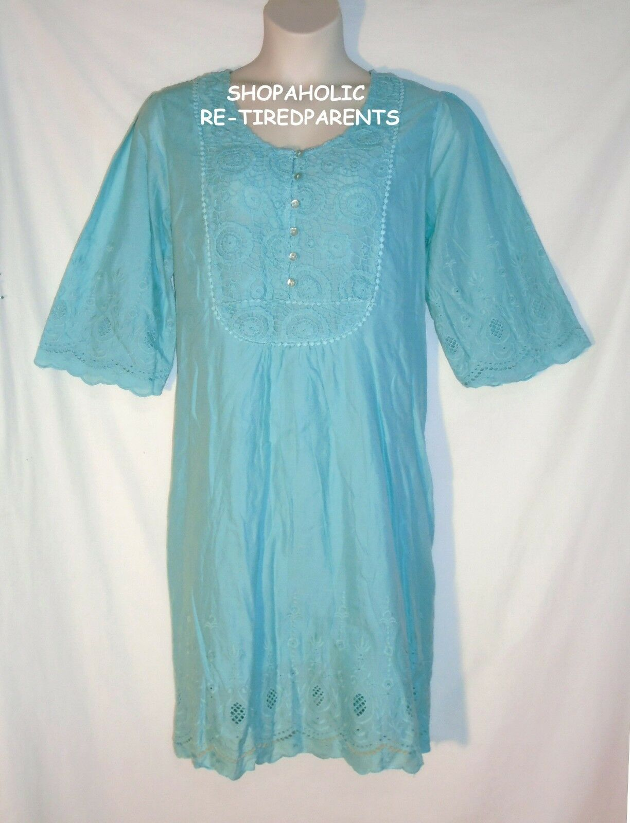 DENIM 24 7 – DRESS – BABY DOLL - blueE - COTTON – LINED – PLUS SIZE 24W – NEW