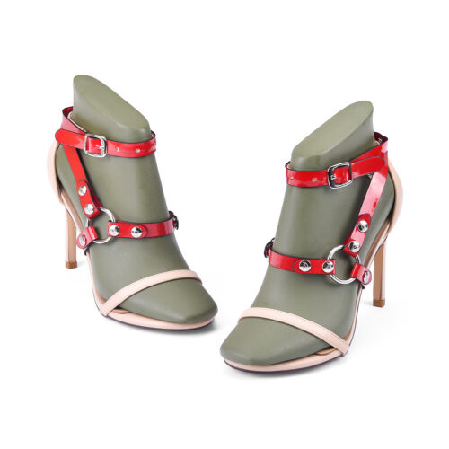of Women's Detachable PU Leather Shoe Straps High Heels Anti Slip Accessories