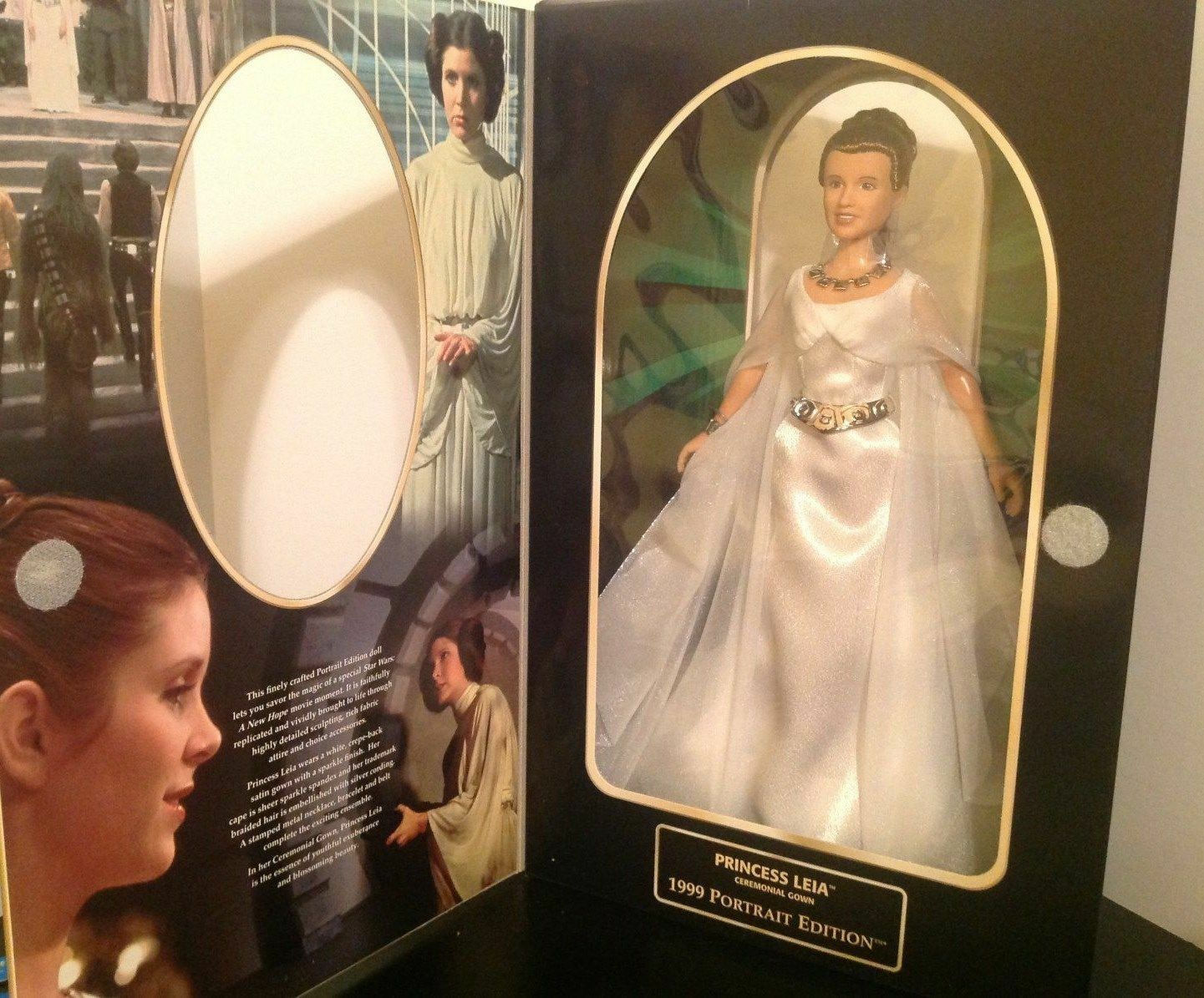 Hasbro Star Wars Princess Leia In Ceremonial Gown 1999 Portrait Edition...