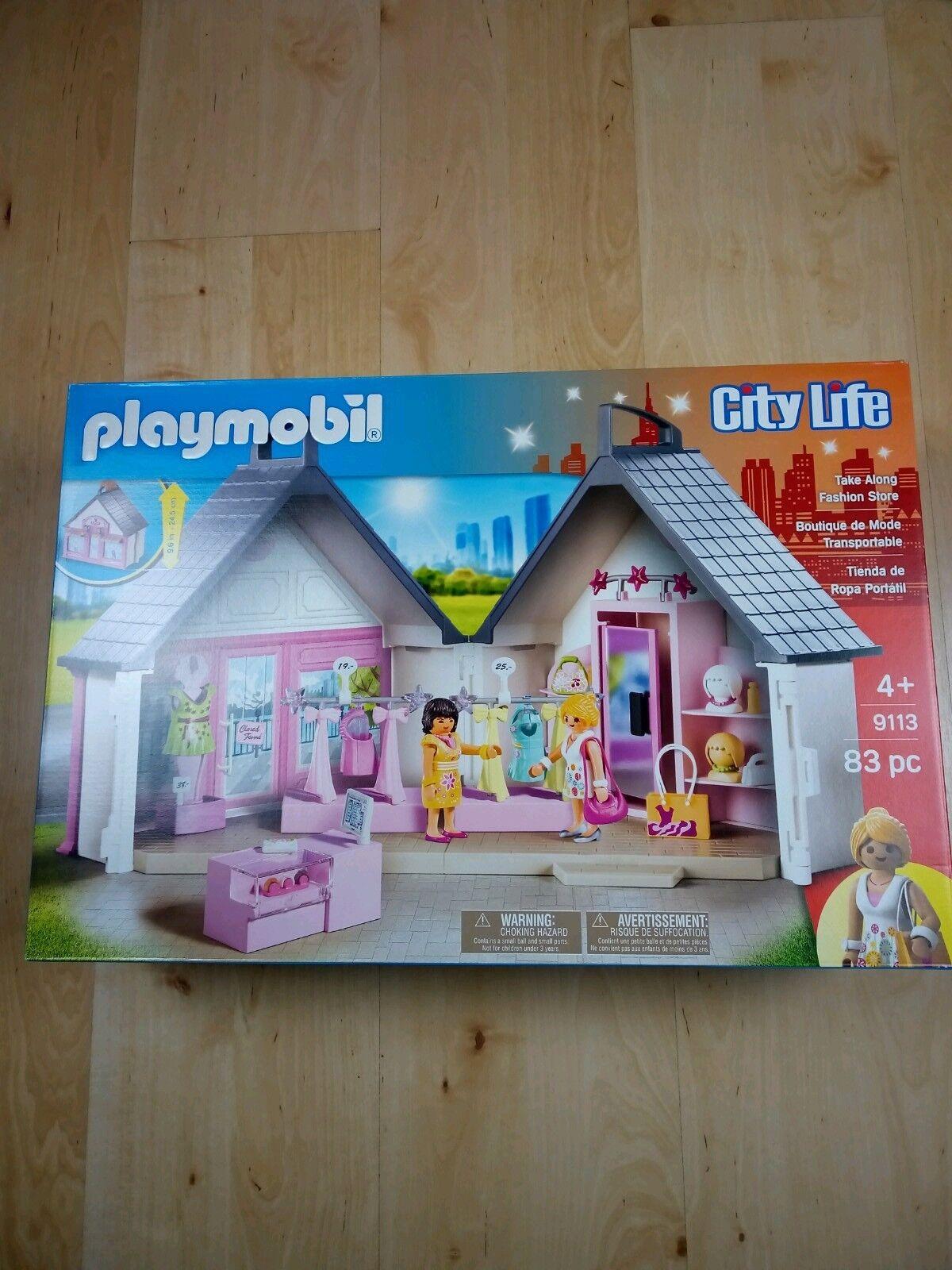 Playmobil Take Along Along Along Fashion Store   Shop    Boutique NEW City Life 9113 5a6825