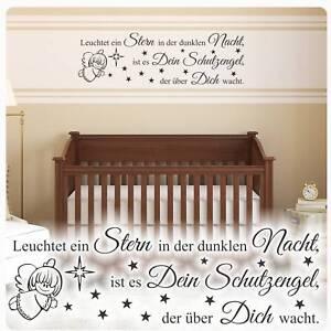 Details zu Wandtattoo Leuchtet ein Stern...Sterne Schutzengel Zitat  Kinderzimmer Kind W1818