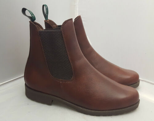 Aigle Bedale Brown Pull on Leather Boots 467