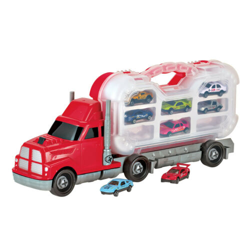 Take-Apart Tool Truck and 8 Car Toys with Carrying Case