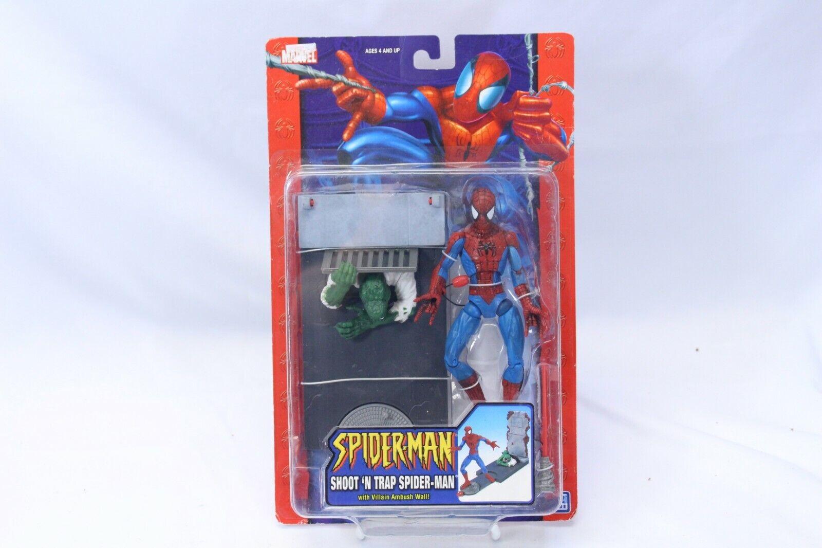 2004 Marvel Spiderman Shoot 'N Trap Spiderman Villain Ambush Wall