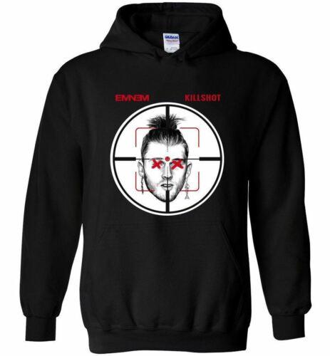 New Eminem Killshot T Shirt Machine Gun Kelly MGK Diss Tee Rap Hip Hop Men Hoodi