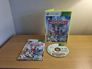 XBOX 360-Monopoly Streets-Complet avec Manuel Sans p&p