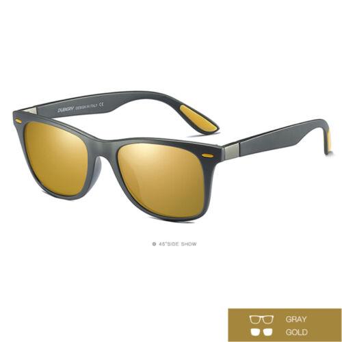 DUBERY Polarized Sunglasses Unisex Square Cycling Sport Driving Fishing UV400