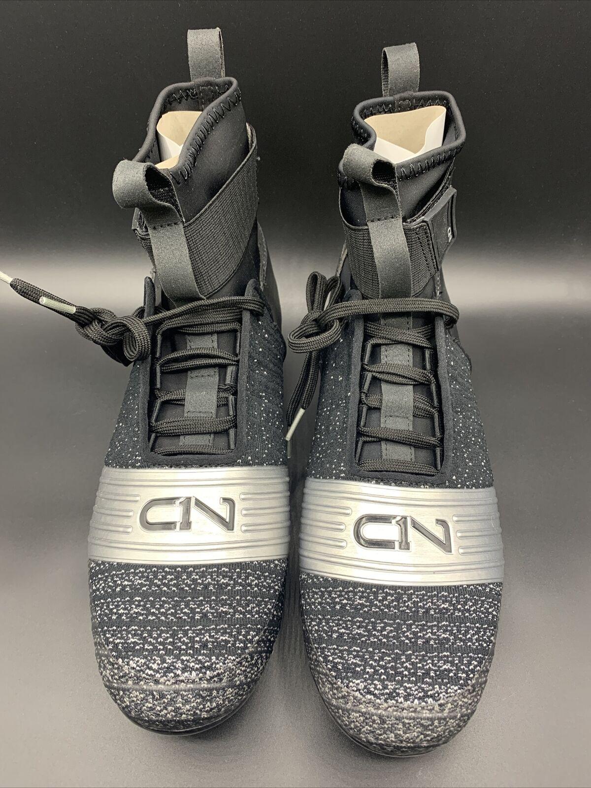 New W//Box Under Armour C1N MC Cam Newton High Football Cleats Black//Silver $160