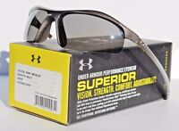 Under Armour Zone Sunglasses Shiny Metallic Graphite/gray Sport/cycle $100