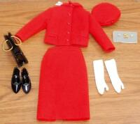 The Jackie Kennedy Doll Franklin Mint Canadian Mountie Red Fashion Ensemble MINT