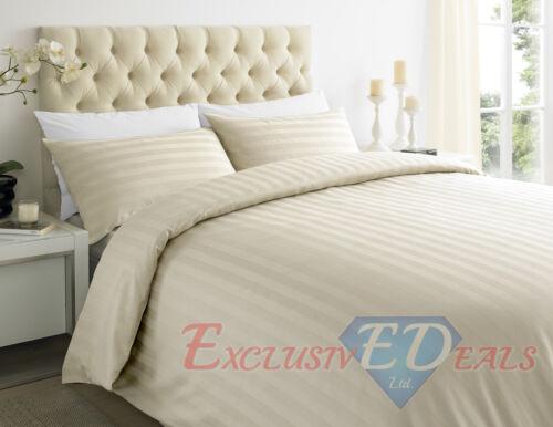 250TC 100/% EGYPTIAN COTTON SATEEN STRIPE Duvet Quilt Cover Bedding Set All Sizes