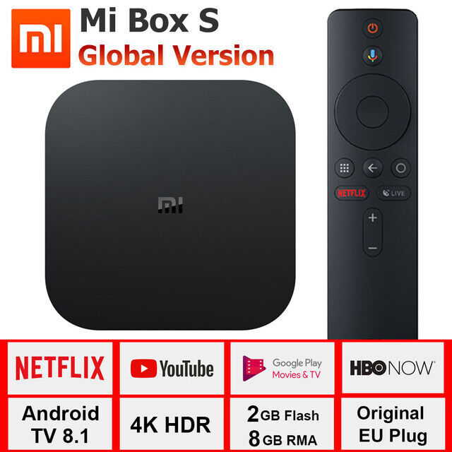 Xiaomi Mi Box S Smart TV BOX 4K HDR Media Player Android 8.1 w/Google Assistant Featured